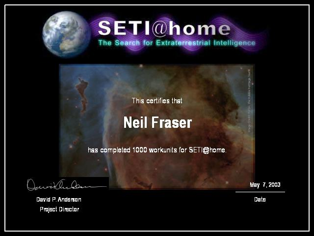 [SETI certificate for 1000 units]