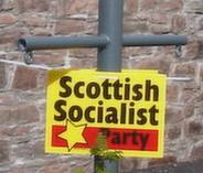 [Scottish Socialist Party poster]