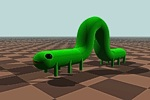 Animation of inch worm
