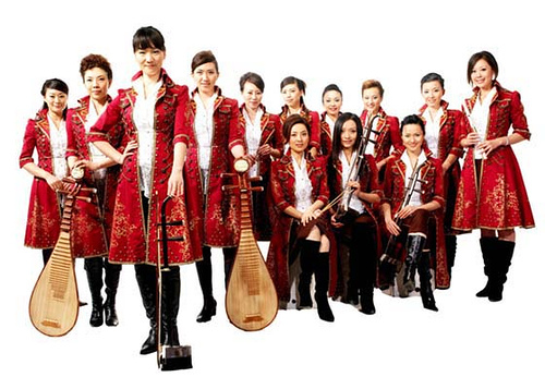 [Twelve Girls Band in red]