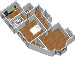 [Floor-plan of apartment #8]