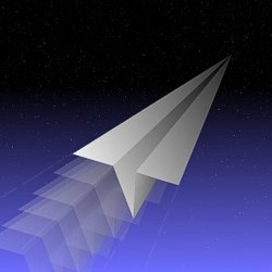 [Paper Airplane in Space]