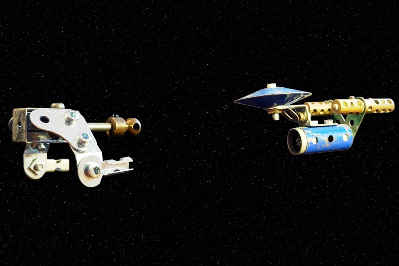 [Meccano Klingon and Federation starships]