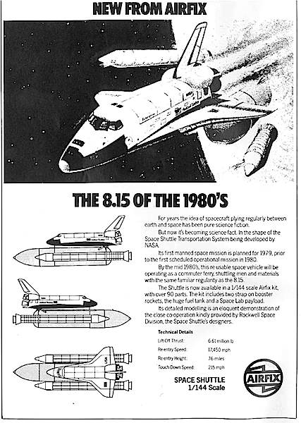 [Airfix ad for Space Shuttle, 1979]