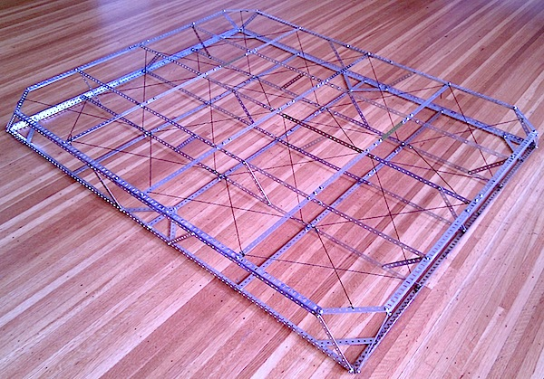 [Space frame made of Meccano]