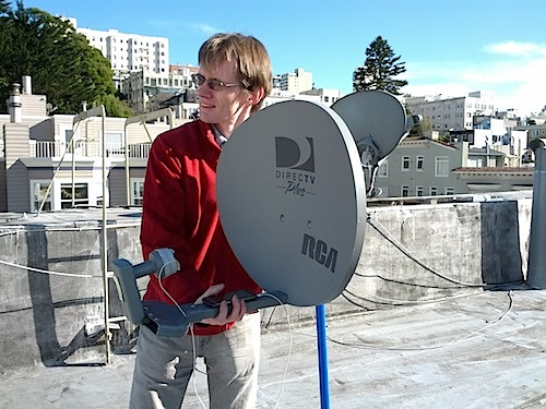 [Using a satellite dish for sonar]