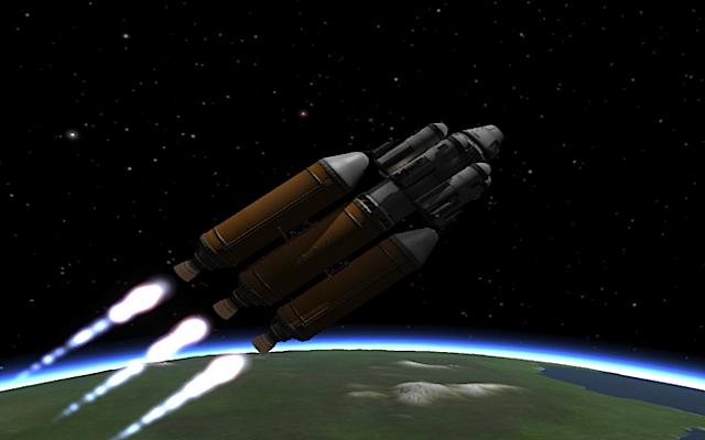 [KSP: Rocket entering orbit]