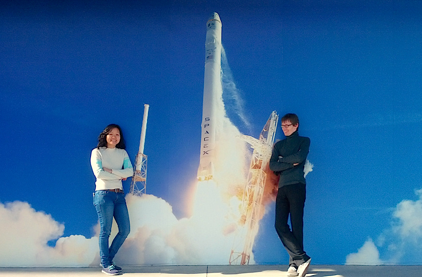 [Quynh and Neil at SpaceX]