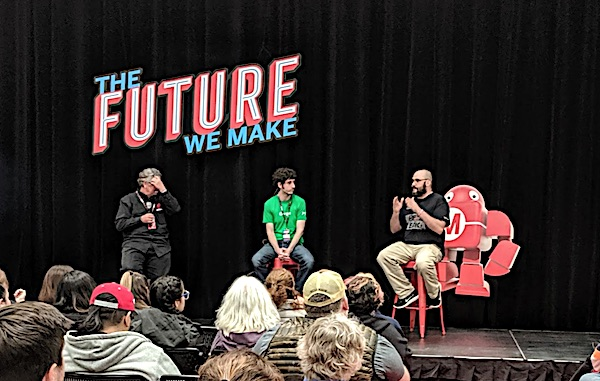 [Panel discussion at Maker Faire]